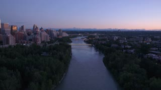 Aerial Canada Calgary June 2017 Sunset 4K Inspire 2