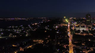 Aerial Canada Quebec City July 2017 Night 4K Inspire 2