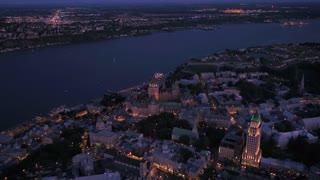 Aerial Canada Quebec City July 2017 Night 4K Inspire 2