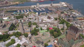 Aerial Canada Quebec City July 2017 Sunny Day 4K Inspire 2