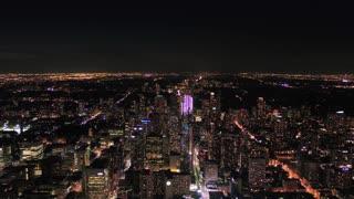 Aerial Canada Toronto July 2017 Night 4K Inspire 2