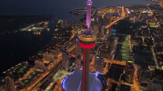 Aerial Canada Toronto July 2017 Night 4K Inspire 2