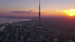 Aerial Canada Toronto July 2017 Sunset 4K Inspire 2