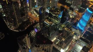 Aerial Florida Miami July 2017 Night 4K Inspire 2