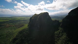 Aerial Hawaii Kauai Anahola Mountains November 2017 Sunny Day 4K Wide Angle Inspire 2 Prores  Aerial video of Anahola Mountains on Kauai island in Hawaii on a sunny day.