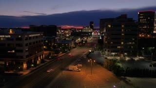Aerial Idaho Boise June 2017 Night Thunderstorm 4K Inspire 2 ProRes