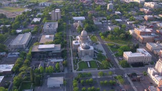 Aerial Idaho Boise June 2017 Sunny Day 4K Inspire 2
