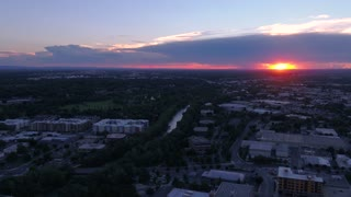 Aerial Idaho Boise June 2017 Sunset 4K Inspire 2