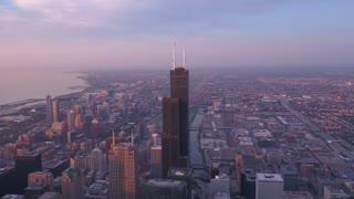 Aerial Illinois Chicago July 2017 Sunrise 4K Inspire 2