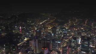 Aerial Korea Seoul April 2017 Seoul Tower Night