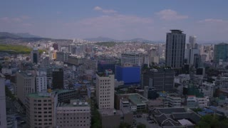 Aerial Korea Seoul April 2017 Seoul Tower Sunny Day