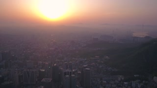 Aerial Korea Seoul April 2017 Seoul Tower Sunrise
