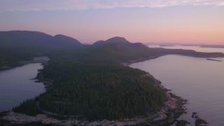 Aerial Maine Acadia National Park July 2017 Sunrise 4K Inspire 2