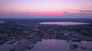 Aerial Maine Portland July 2017 Night 4K Inspire 2