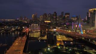 Aerial Massachusetts Boston July 2017 Night 4K Inspire 2