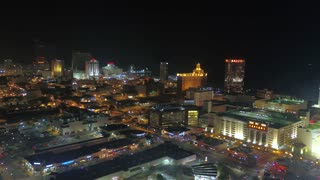 Aerial New Jersey Atlantic City July 2017 Night 4K Inspire 2