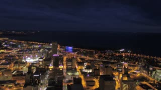 Aerial New York Buffalo July 2017 Night 4K Inspire 2