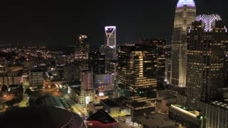 Aerial North Carolina Charlotte July 2017 Night 4K Inspire 2