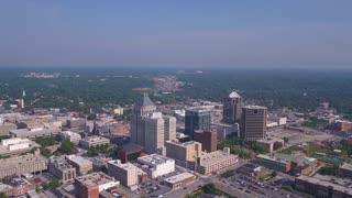 Aerial North Carolina Greensboro July 2017 Sunny Day 4K Inspire 2