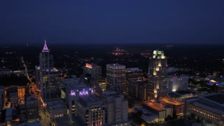 Aerial North Carolina Raleigh July 2017 Night 4K Inspire 2