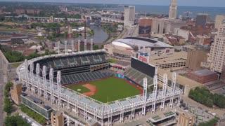 Aerial Ohio Cleveland July 2017 Sunny Day 4K Inspire 2