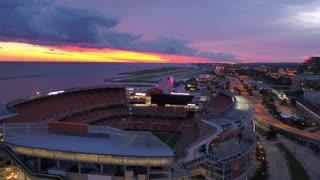 Aerial Ohio Cleveland July 2017 Sunrise 4K Inspire 2