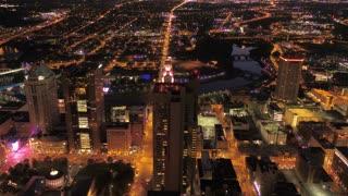 Aerial Ohio Columbus July 2017 Night 4K Inspire 2