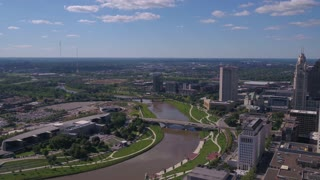 Aerial Ohio Columbus July 2017 Sunny Day 4K Inspire 2