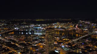 Aerial Oregon Portland Night