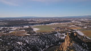 Aerial Oregon Smith Rock
