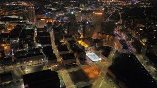 Aerial Rhode Island Providence July 2017 Night 4K Inspire 2