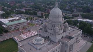 Aerial Rhode Island Providence July 2017 Sunny Day 4K Inspire 2