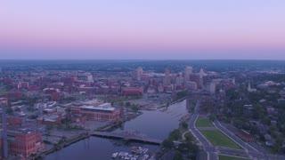 Aerial Rhode Island Providence July 2017 Sunrise 4K Inspire 2