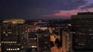 Aerial South Carolina Columbia July 2017 Night 4K Inspire 2