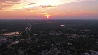 Aerial South Carolina Columbia July 2017 Sunset 4K Inspire 2