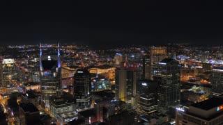 Aerial Tennessee Nashville July 2017 Night 4K Inspire 2