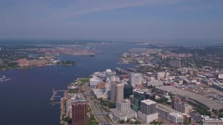 Aerial Virginia Norfolk July 2017 Sunny Day 4K Inspire 2
