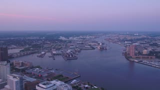 Aerial Virginia Norfolk July 2017 Sunrise 4K Inspire 2