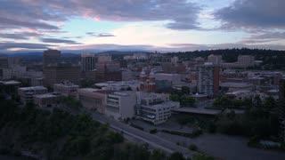 Aerial Washington Spokane June 2017 Sunrise 4K Inspire 2 ProRes