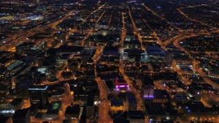 Aerial Wisconsin Milwaukie July 2017 Night 4K Inspire 2