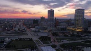 Aerial Wisconsin Milwaukie July 2017 Sunset 4K Inspire 2