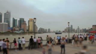 Waterfront Time Lapse Shanghai Bund Area