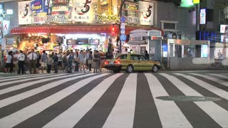 A busy pedestrian timelapse at Shinjuku one of the 23 special wards of Tokyo, Japan