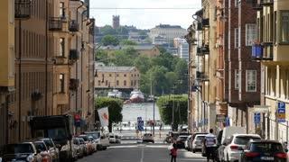 A street in Östermalm Stockholm Sweden