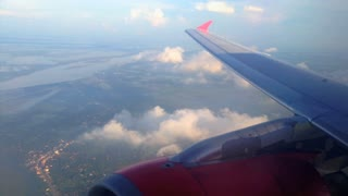 Air Asia airplane arrives in Phnom Penh, Cambodia
