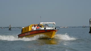 Ambulance boat in Venice Italy