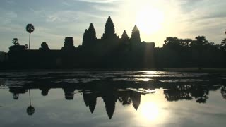 Ankor wat reflextion wide,Siem Reap