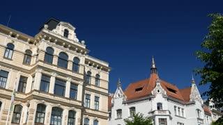 Art Nouveau apartment buildings in Albert Street in Riga