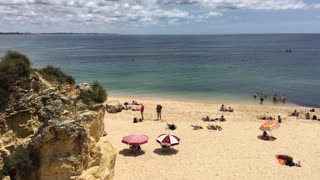 Batata beach in Lagos Algarve Portugal