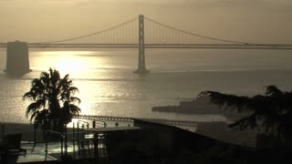 Bay bridge in the morning San Francisco